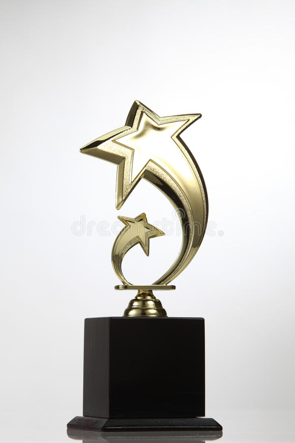 Star trophy stock photography