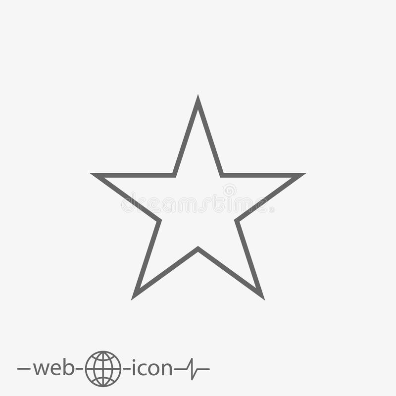 Star vector icon. On grey background vector illustration