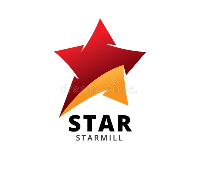 Star vector icon logo design template isolated on white background. Star abstract movement vector icon logo design template isolated on white background vector illustration