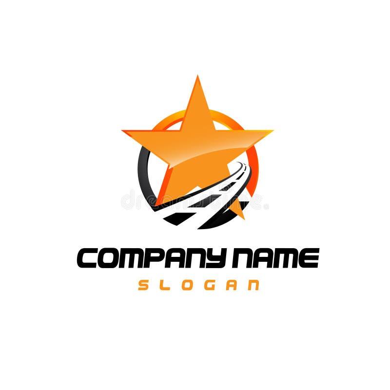 Star vector road services logo concept illustration. Star logo - vector logo concept illustration. Star and stripes vector logo.asphalt logo. Star abstract logo royalty free illustration