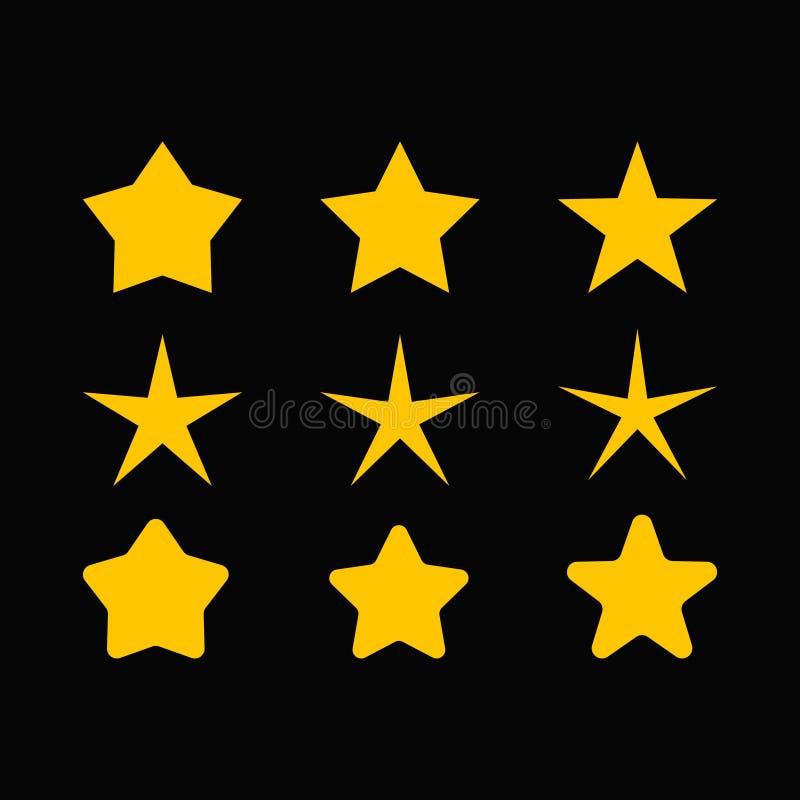 Star vector set. Star sparkle set set vector illustration