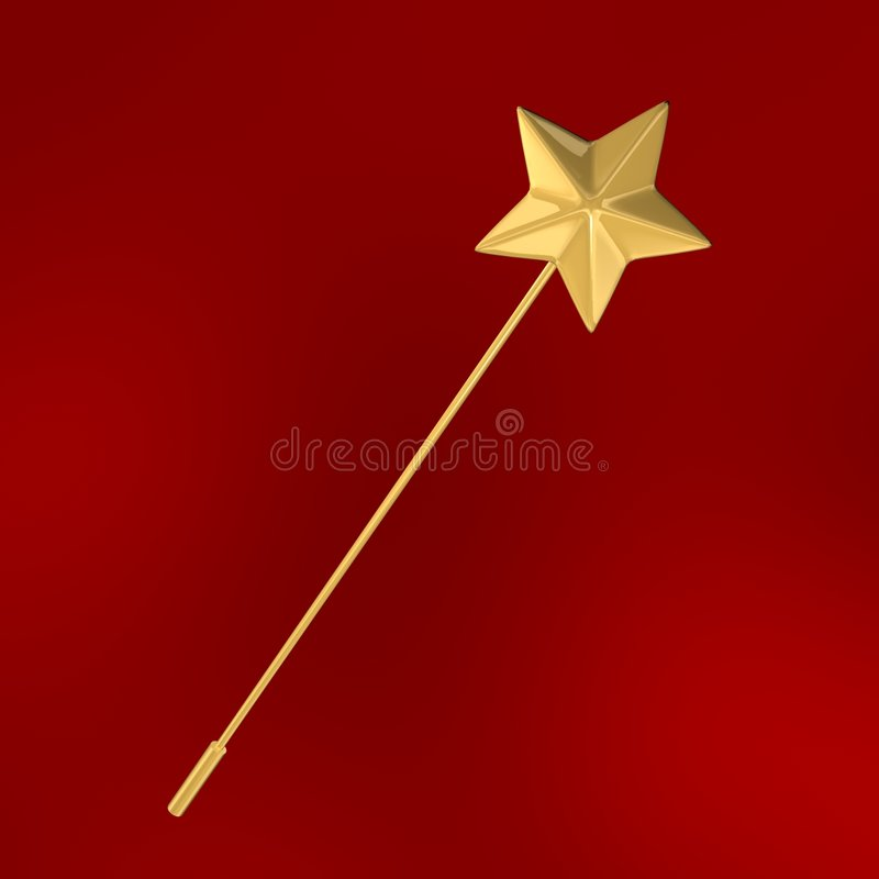 Star wand stock images