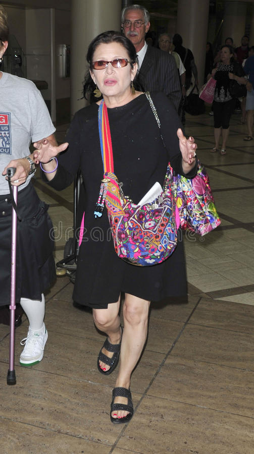 Star Wars actress carrie Fisher at LAX