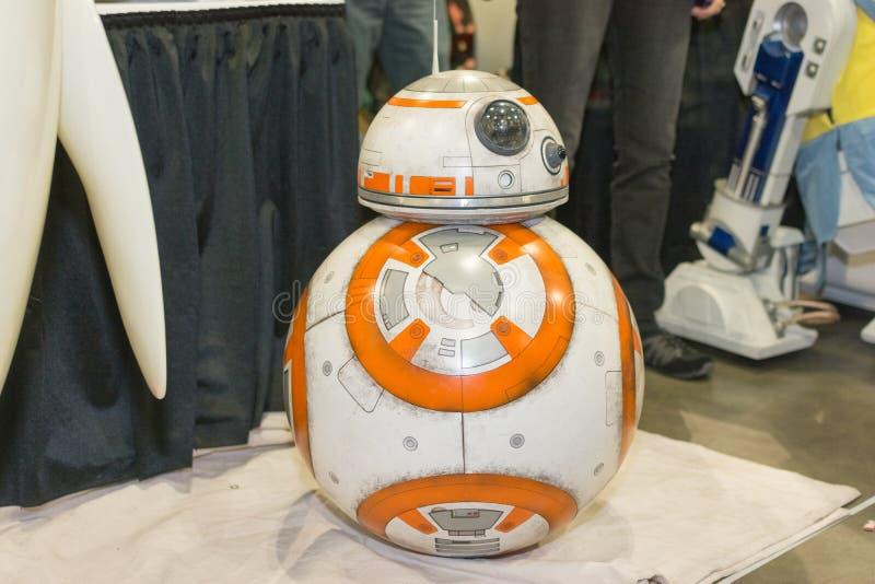 Star Wars BB-8 Droid imágenes de archivo libres de regalías