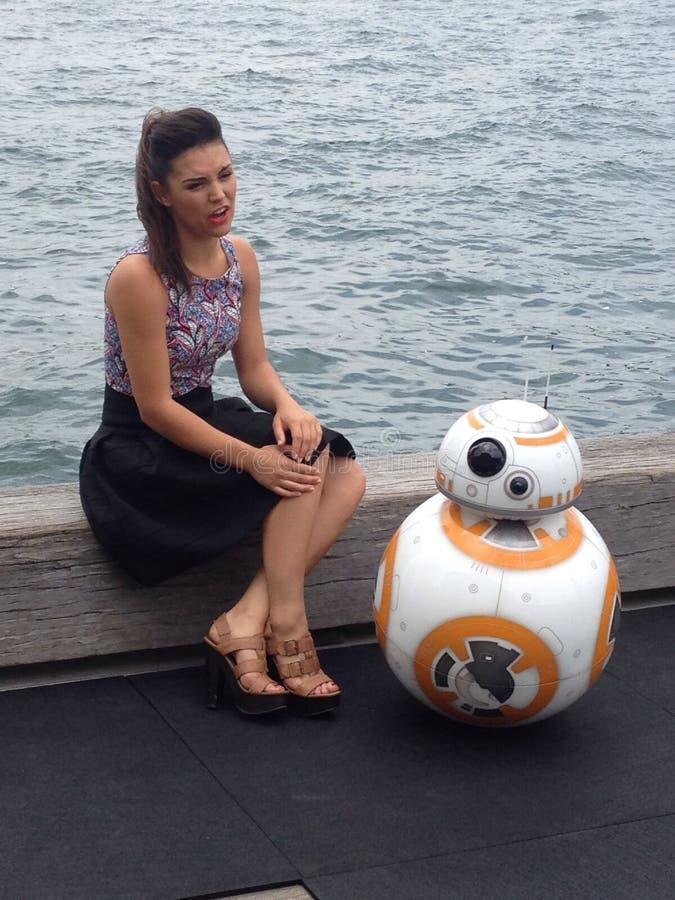 Star Wars BB8 robot friend stock photos