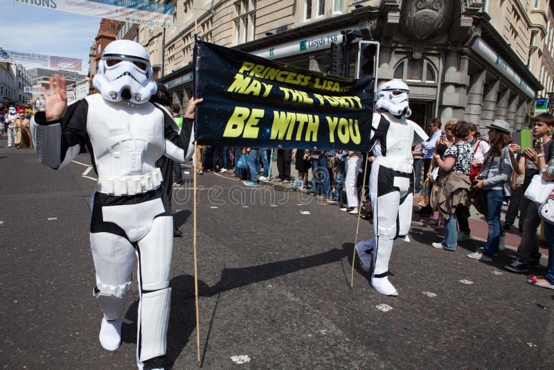 Star Wars in Brighton Gay Pride 2011 royalty free stock photos