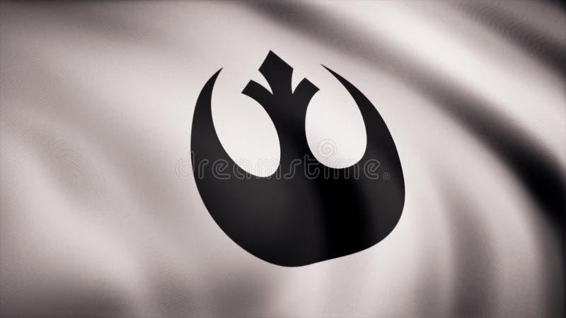 Star Wars buntownika Alliance symbol na flaga Gwiezdna wojna temat Redakcyjny use tylko ilustracja wektor