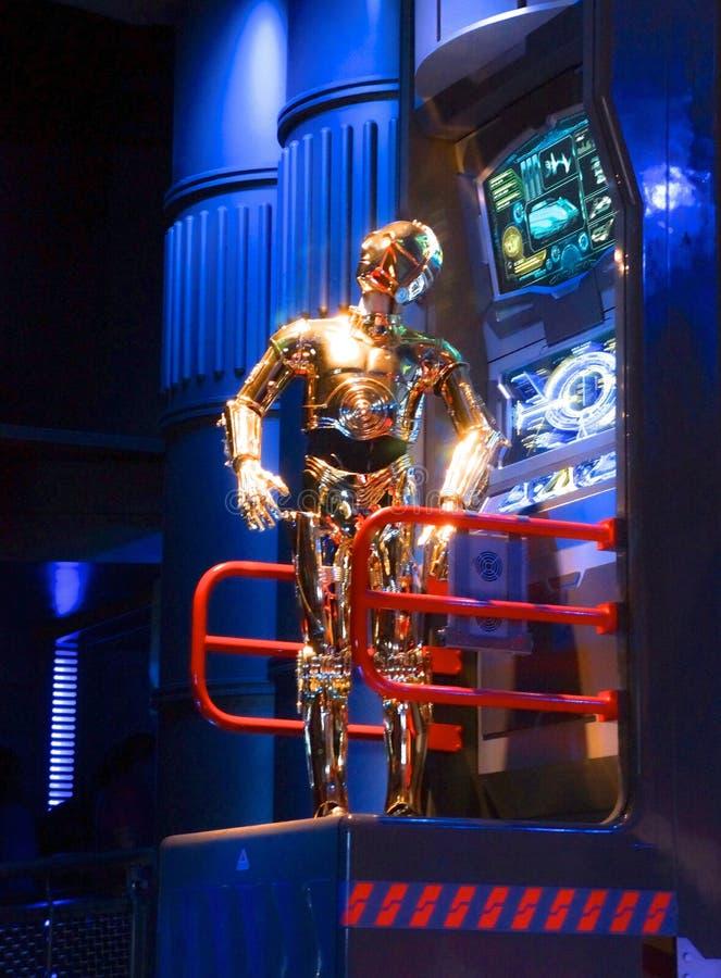 Star Wars C3PO animerade roboten royaltyfri bild