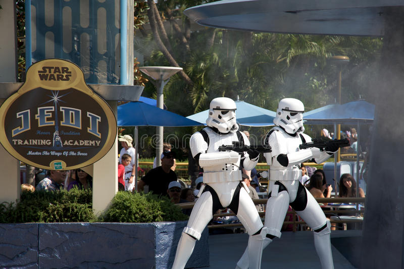Star Wars chez Disneyland image stock