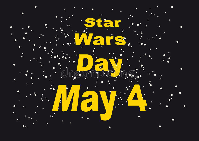Star Wars Day royalty free illustration