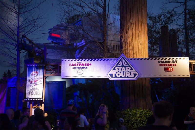 Star Wars, Disney World, curso, estúdios de Hollywood fotos de stock