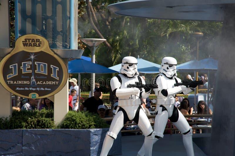 Star Wars em Disneylâandia imagem de stock