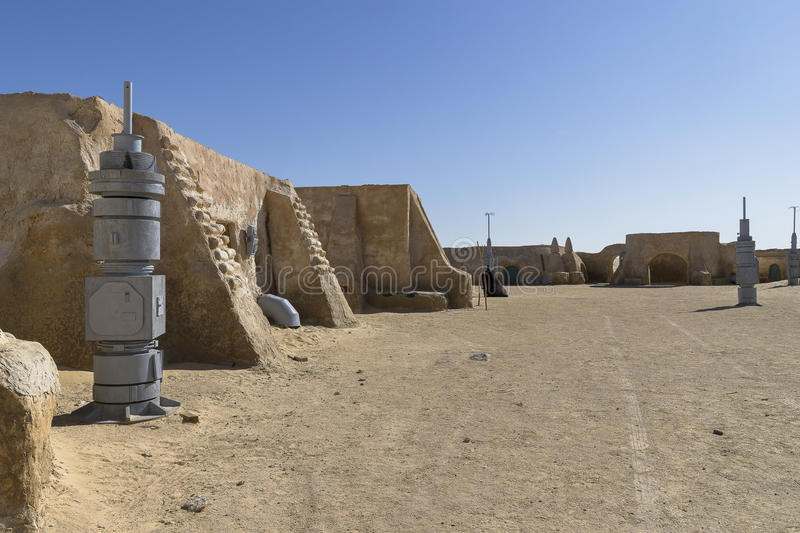 Star Wars film set, Tunisia. The houses from planet Tatouine - Star Wars film set, Desert in Tunisia. Africa stock photo