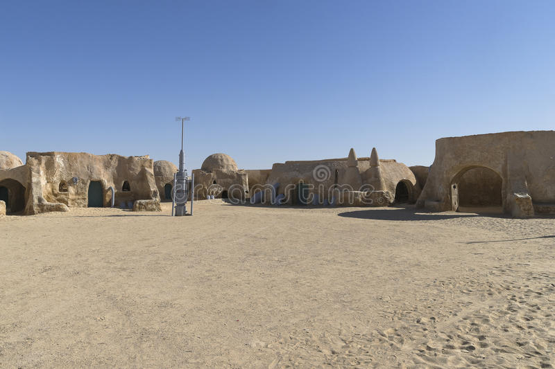 Star Wars film set, Tunisia. The houses from planet Tatouine - Star Wars film set, Desert in Tunisia. Africa royalty free stock photography