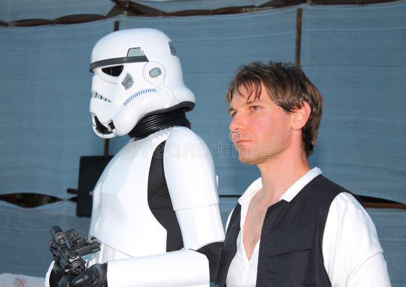 Star Wars-Karakter: Han Solo stock afbeeldingen