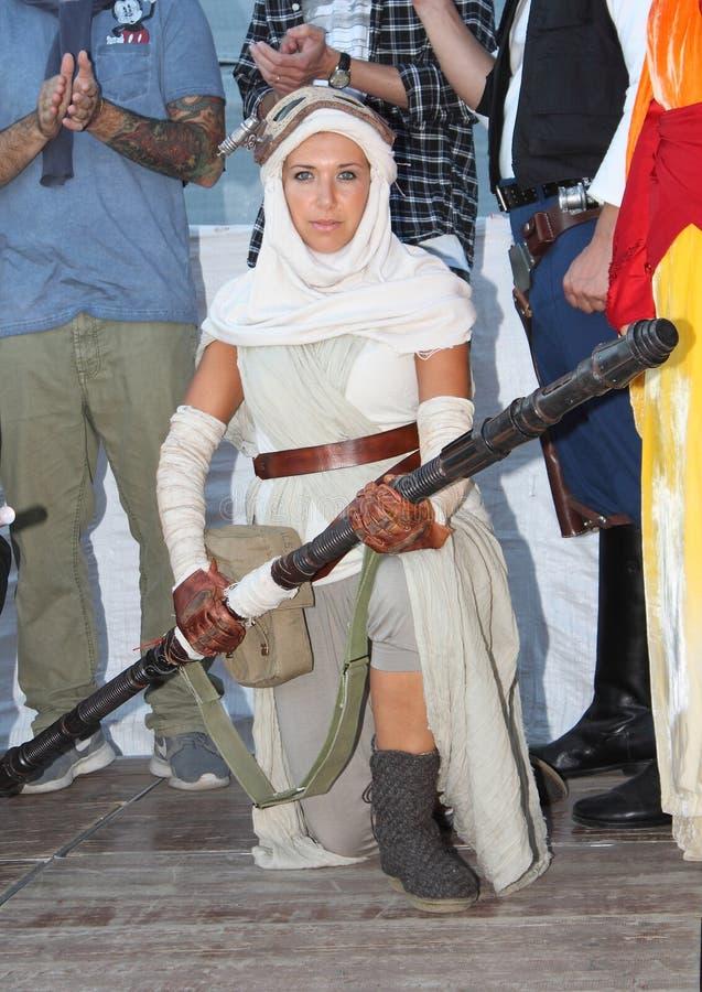 Star Wars-Karakter: Rey royalty-vrije stock foto