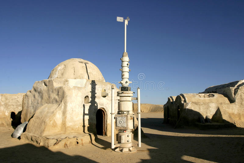 Star Wars-landschapsngo Jemel dichtbij Nefta Tunesië royalty-vrije stock afbeelding