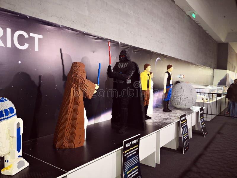 Star Wars - Lego Exhibition Invasion de Giants fotografía de archivo libre de regalías