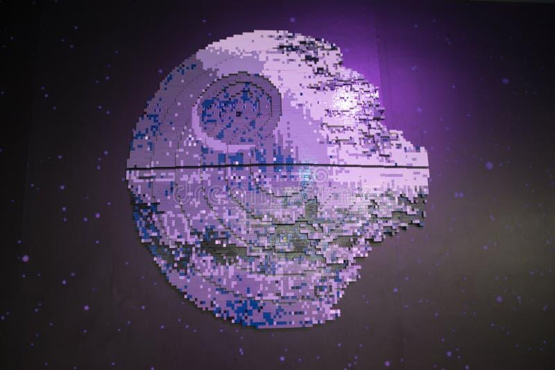 Star Wars-legomodel van de Doodsster stock foto