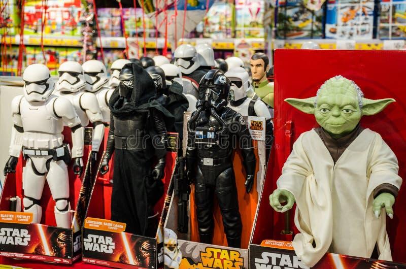 Star Wars leksaker royaltyfria foton
