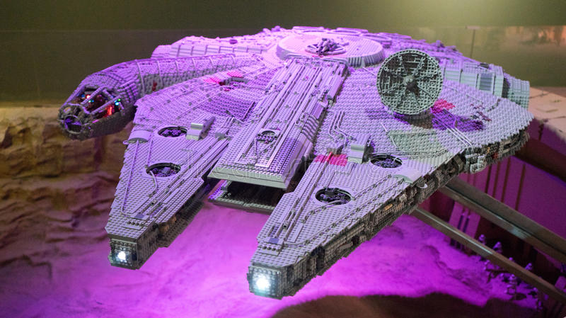 Star Wars Millenniun Falcon lego model royalty free stock image