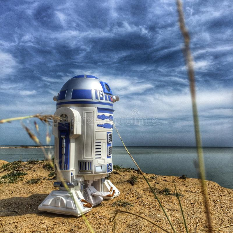 Star Wars-R2D2. Famous icon in Star wars trilogy royalty free stock photo