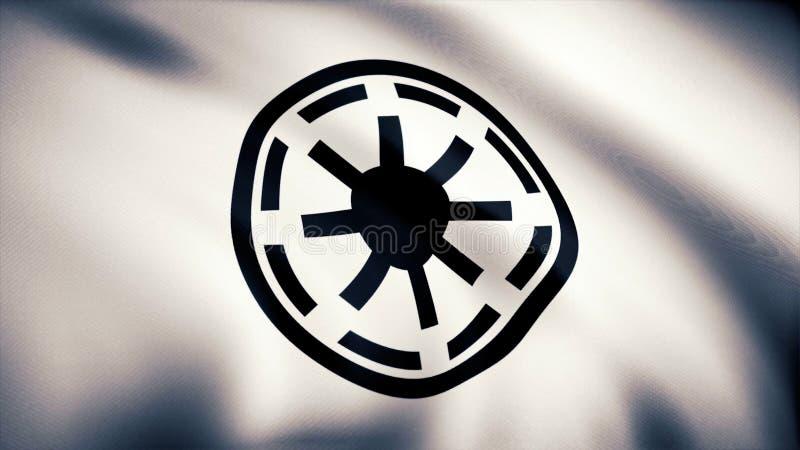 Star Wars republiki symbolu loga Galaktyczna flaga Star Wars republiki symbolu loga Galaktyczna flaga 2009 amerykańskiego auto od zdjęcie stock