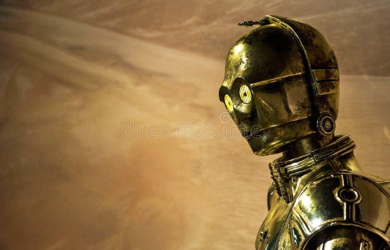 Star Wars robot C-3PO fotografia royalty free
