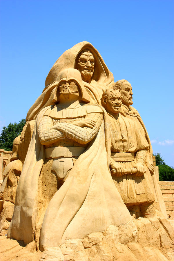 Star Wars - sand sculpture royalty free stock photos