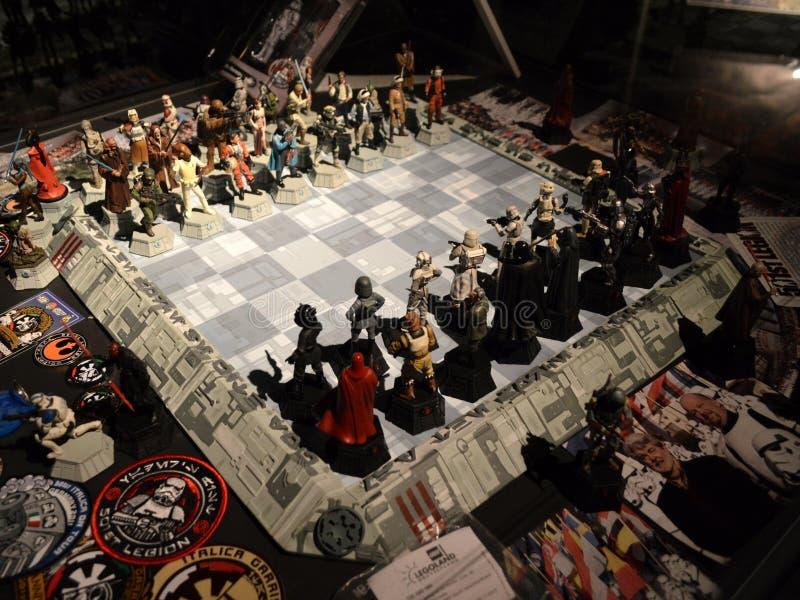 Star Wars schackbräde arkivfoton