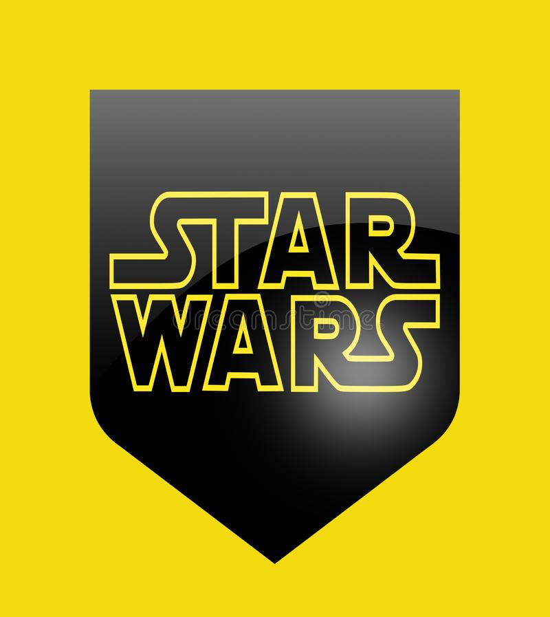 Star Wars sign. Star Wars is an American epic space opera franchise, created by George Lucas and centered around a film series