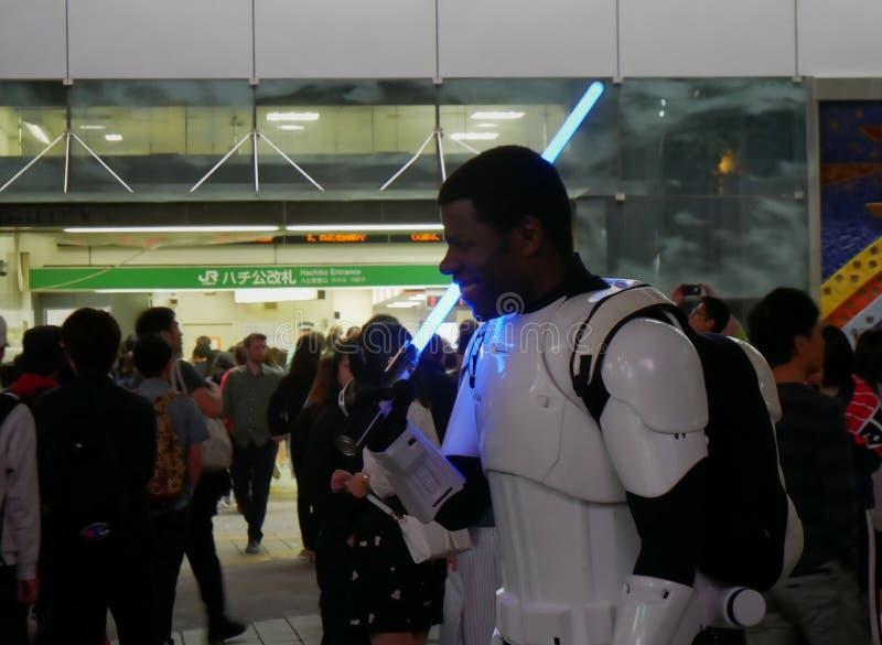 Star Wars som är cosplay i Japan royaltyfri fotografi