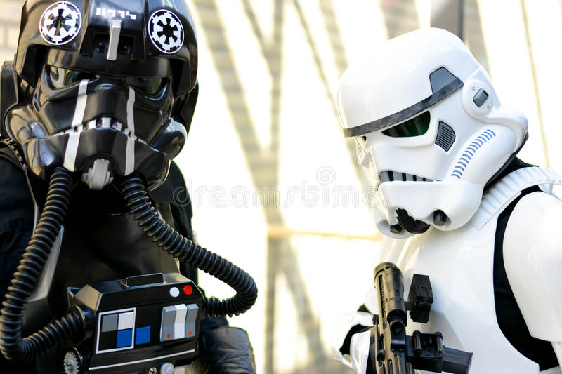 Star Wars stormtroopers obrazy stock