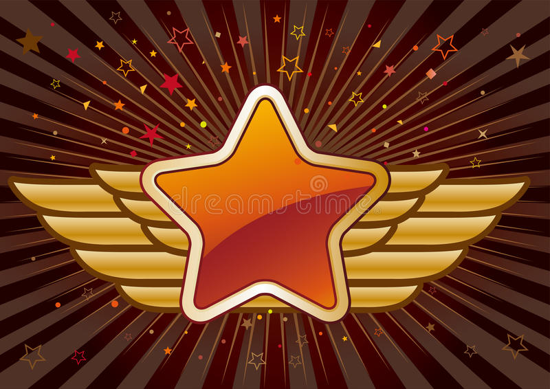 Star And Wings Stock Photography