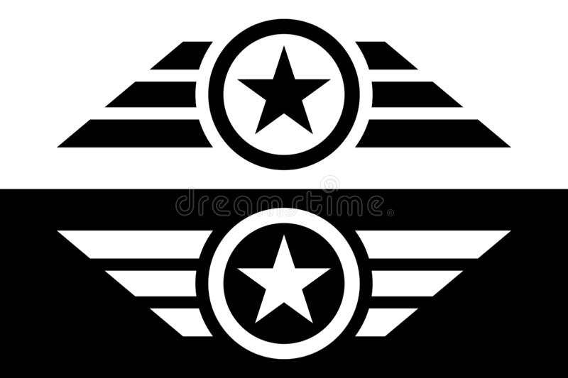 Star with Wings Abstract Logo(带Wings摘要徽标的星 设计元素 皇族释放例证