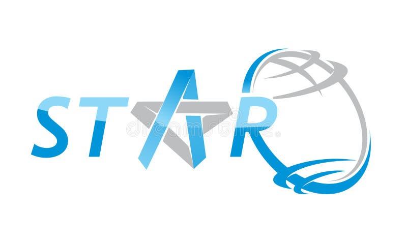 Star World Letter Star vector illustration