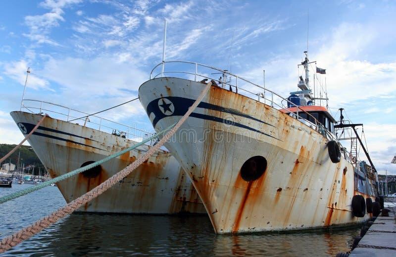 stara łódź na ryby obrazy stock