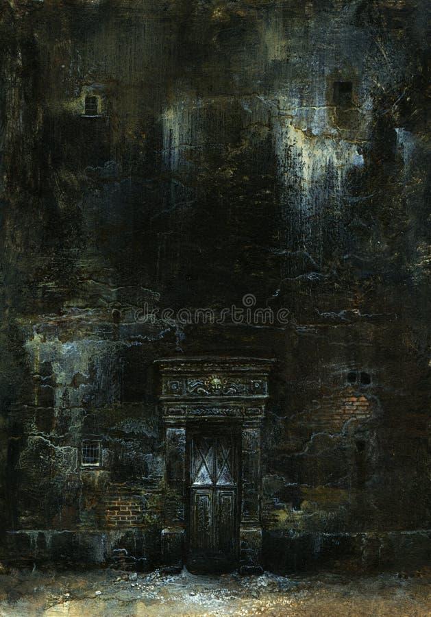 stara ściana ilustracja wektor