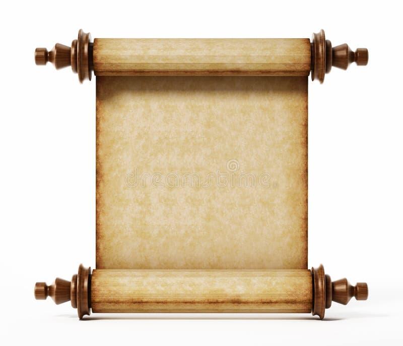 Stara ślimacznica odizolowywająca na białym tle ilustracja 3 d royalty ilustracja