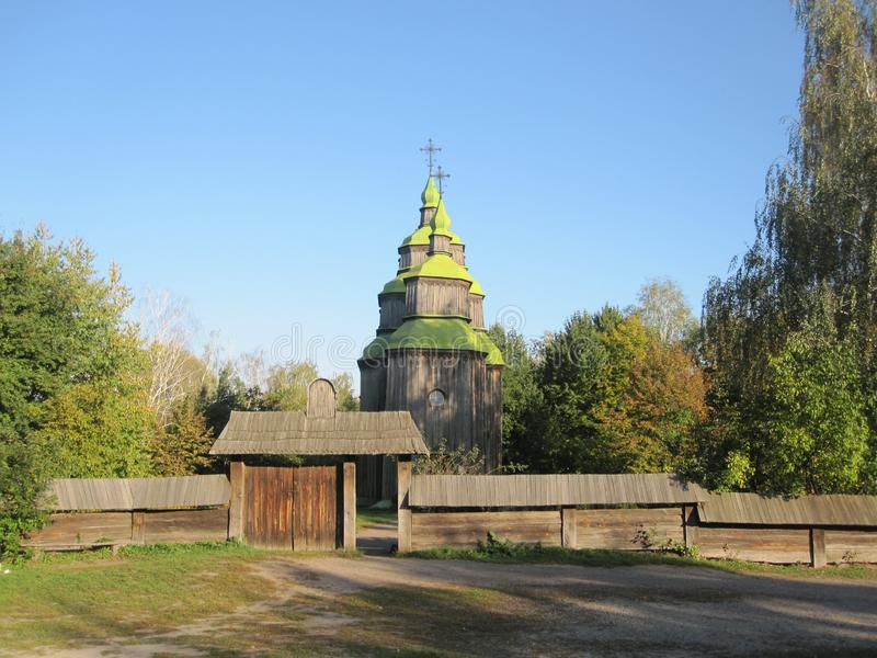 Stara świątynia w Ukraina obrazy stock