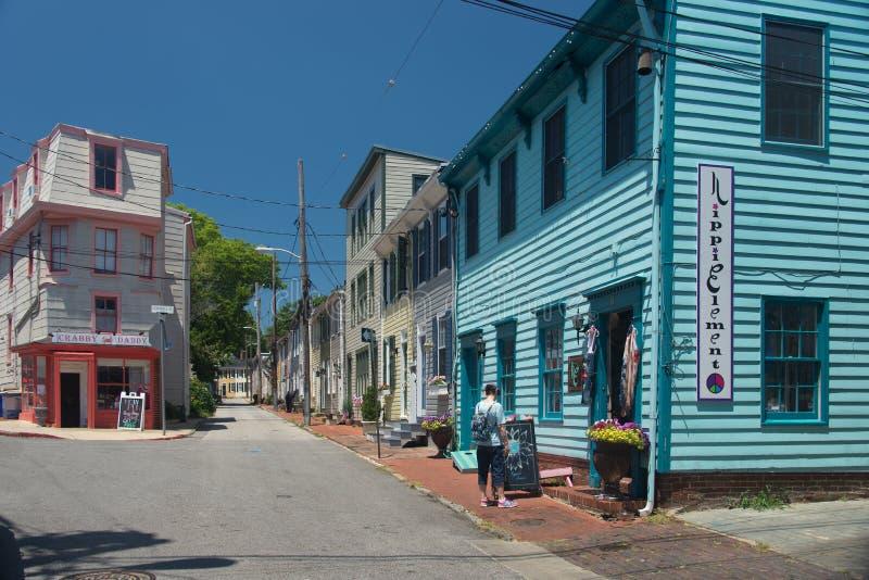 Stara Annanpolis ulica 3 obraz stock