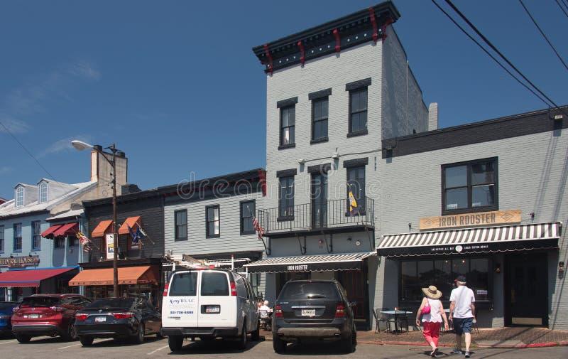 Stara Annapolis ulica 1 obraz royalty free