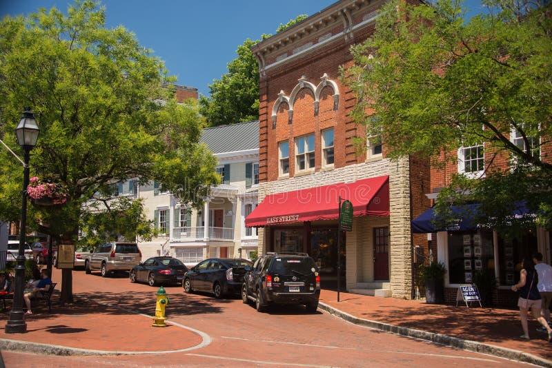Stara Annapolis ulica 8 obraz royalty free