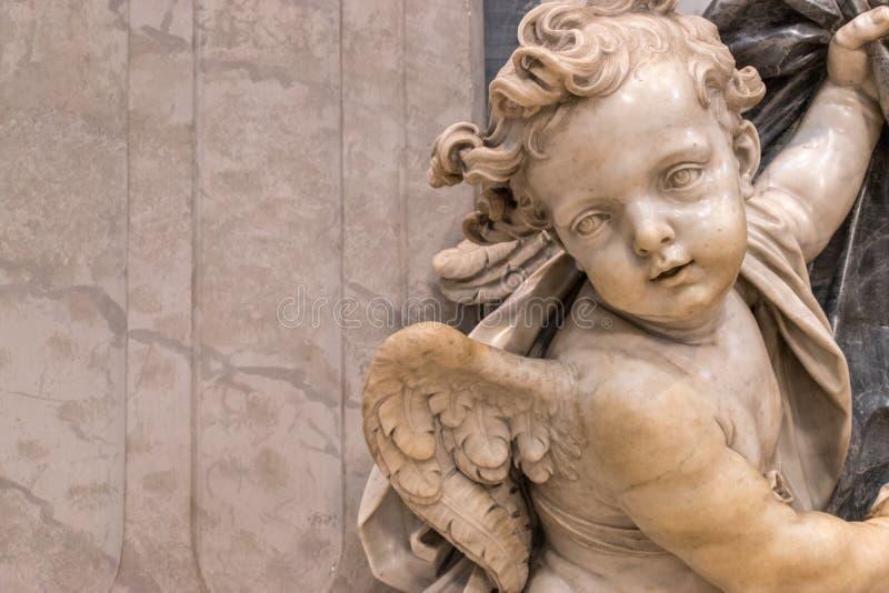Stara antyczna anioł statua fotografia royalty free