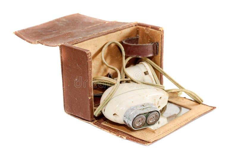 Stara antykwarska elektryczna wiórkarka zdjęcie stock
