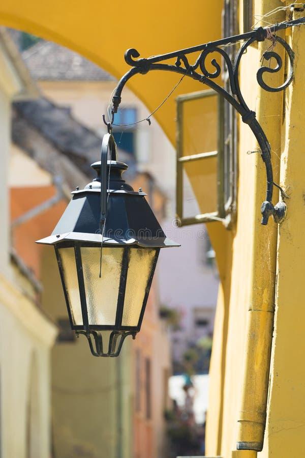 Stara antykwarska latarnia uliczna fotografia royalty free