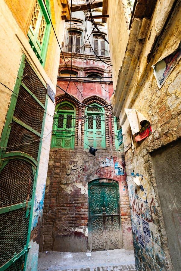 Stara architektura KPK Pakistan zdjęcie royalty free