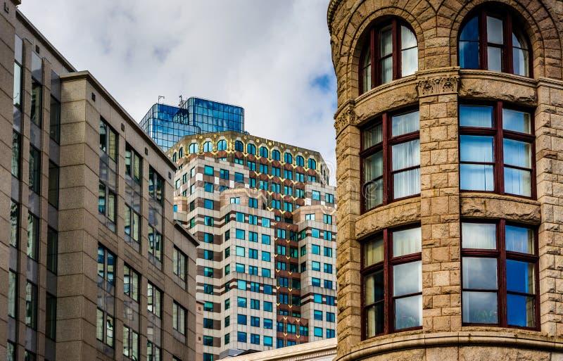 Stara architektura w Boston, Massachusetts fotografia stock