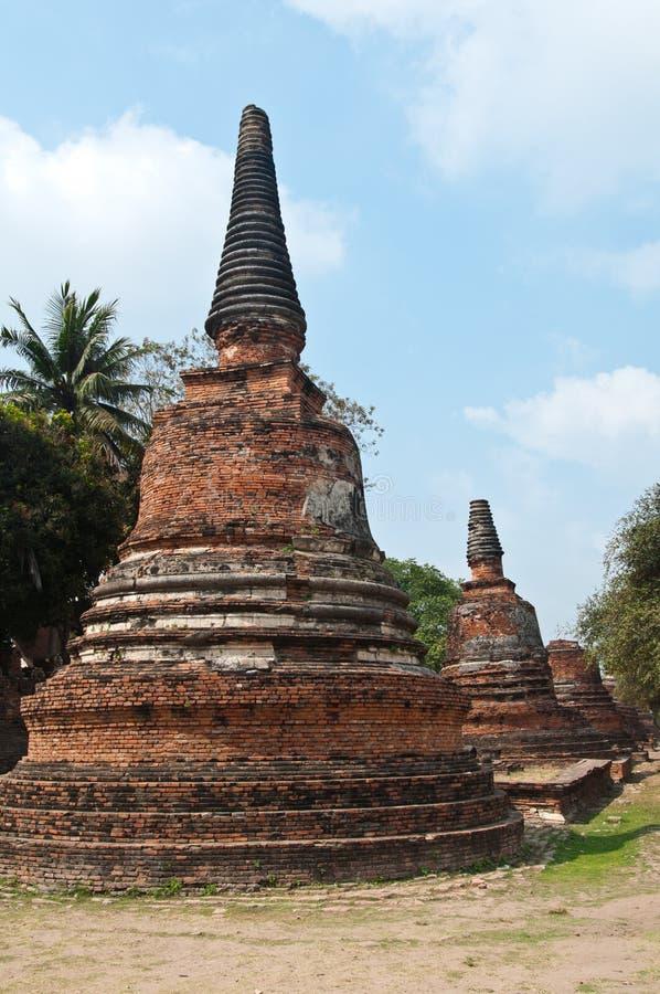 stara ayutthata świątynia Thailand zdjęcie royalty free
