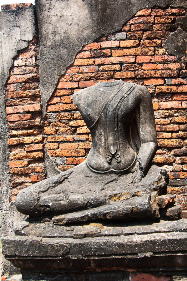 stara ayutthata świątynia Thailand zdjęcie stock